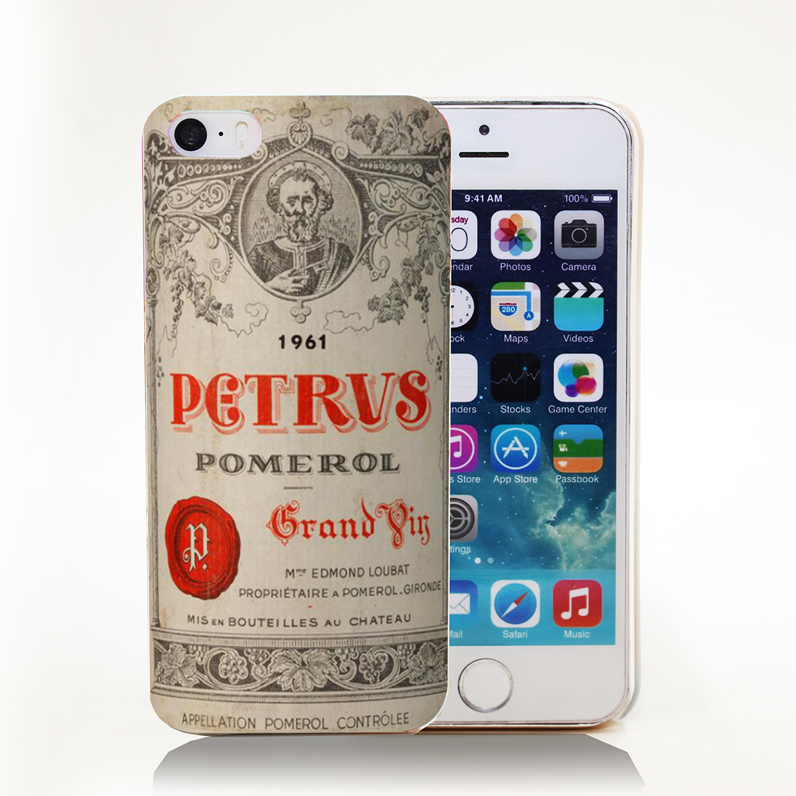 Cool Chateau Petrus Wine 1990 Logo Hard Transparent Cover Case for iPhone 4 4s 5 5s 5c 6 6s Protect Phone Cases