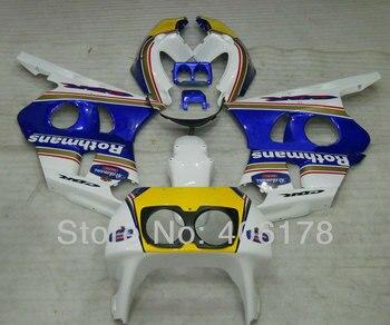 Custom Fairings Motorcycle kit For CBR400RR NC29 90-98 CBR 400 RR 1990-1998 Sport Bike Blue White Yellow Fairings cheap