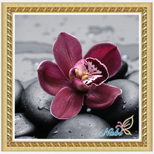 flower orchid foamiran needlework beads beadwork 2321R - Round Diamond embroidery cross stitch diamond mosaic painting