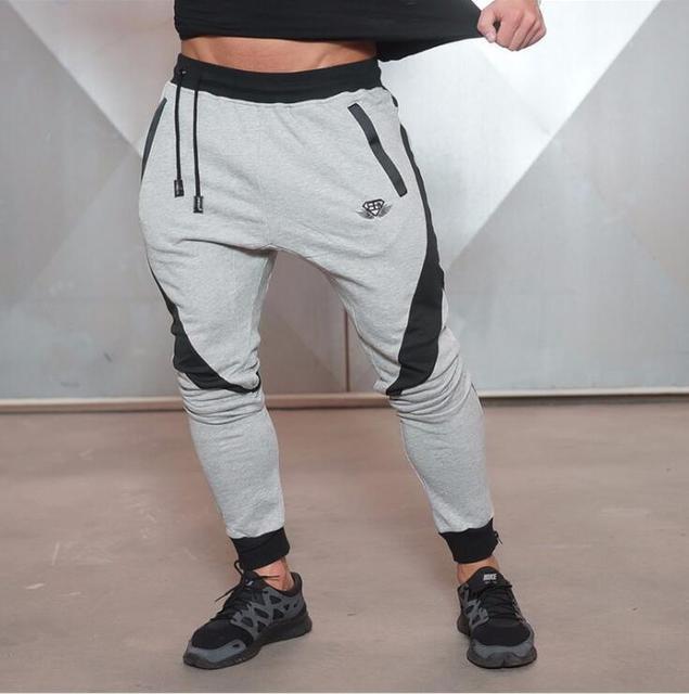 2016 Autumn Men's Joggers Pants Gymshark Fitness Clothing Tracksuits Trousers Slim Fit Workout Pants Male Sweatpants