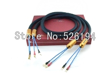 Free shipping DHL 2.5m moonsaudio Royal Signature Series Prince Speaker Cables with Y Spades connector