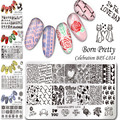 1 Pc BORN PRETTY Celebration Stamping Plate Valentine's Day Exoticism Kaleidoscope Manicure Nail Art Stamping Image Template