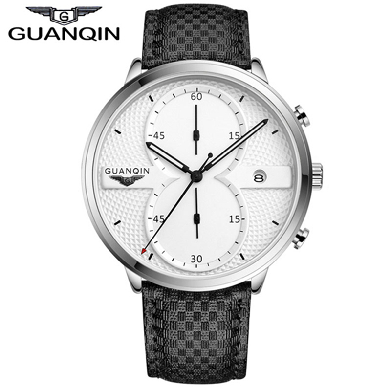 Reloj para hombre Reloj de cuero deportivo Bandas GUANQIN A prueba de - Relojes para hombres