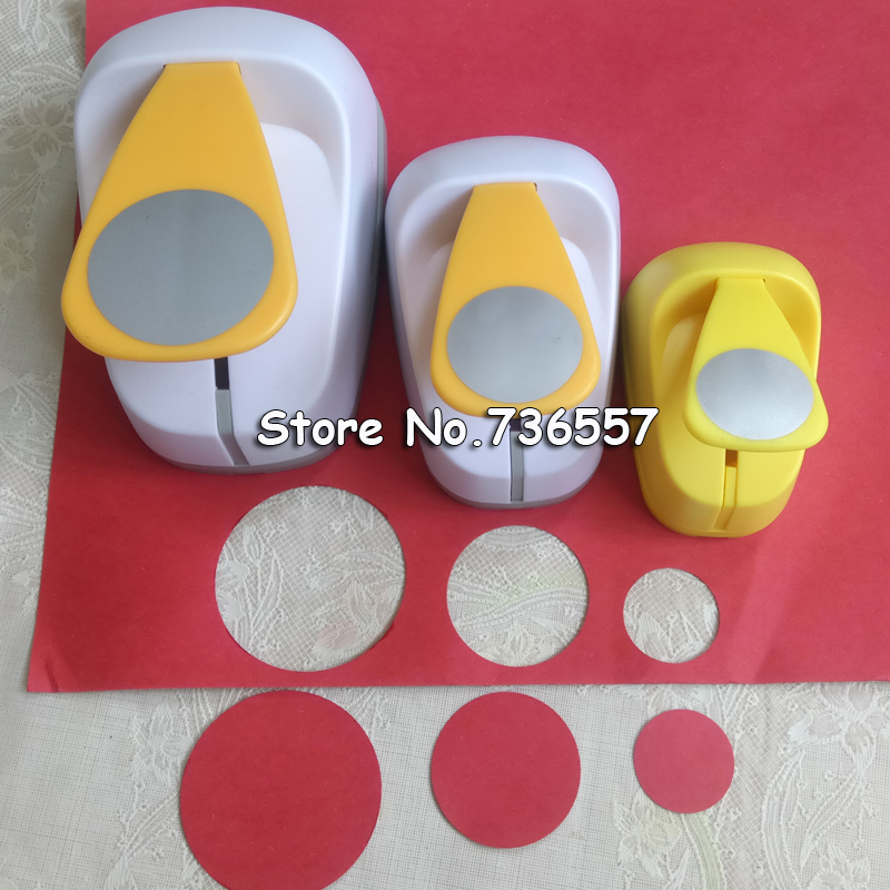 5cm 3.8cm 2.5cm Round Shape Craft Punch Set Children Manual DIY Hole Punches Cortador De Papel De Scrapbook School Circle Punch