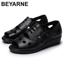 BEYARNERome/Стильные пикантные сандалии гладиаторы с открытым носком; Женская обувь на плоской подошве из натуральной коровьей кожи на мягкой нескользящей подошве; Летняя женская обувь; 353