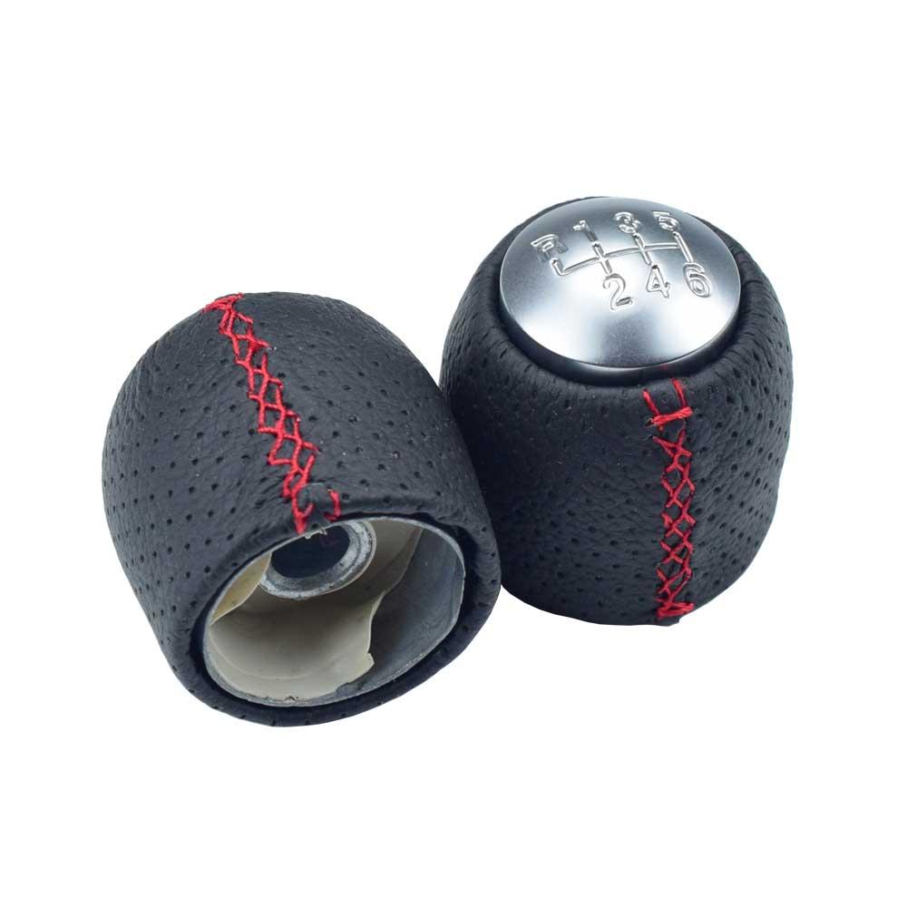 Good quality For ALFA ROMEO 159 BRERA SPIDER(05-11) Car Handle Manual Black Gear shift knob stick head ball Car accessories - Название цвета: 6Speed-RedLine