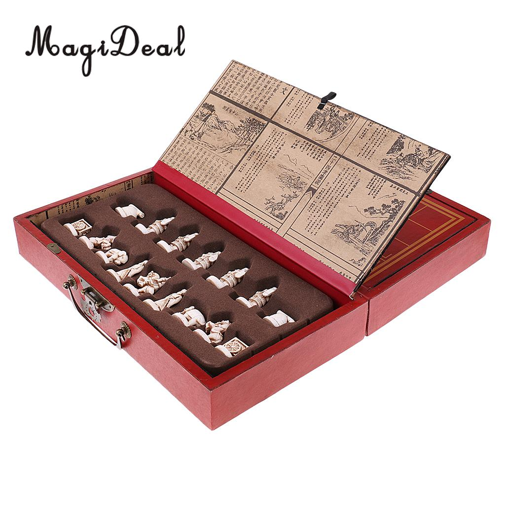 MagiDeal традиционные лучших китайских шахматы деревянные складной шахматная доска комплект широкий игра головоломка Tabel игрушки для детей вз