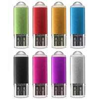 Fashion Metal Usb 2.0 Usb 1GB 2GB 4GB 8GB 16GB 32GB Usb Flash Drive Full Capacity Pen drive usb memory stick gift Drop Shipping