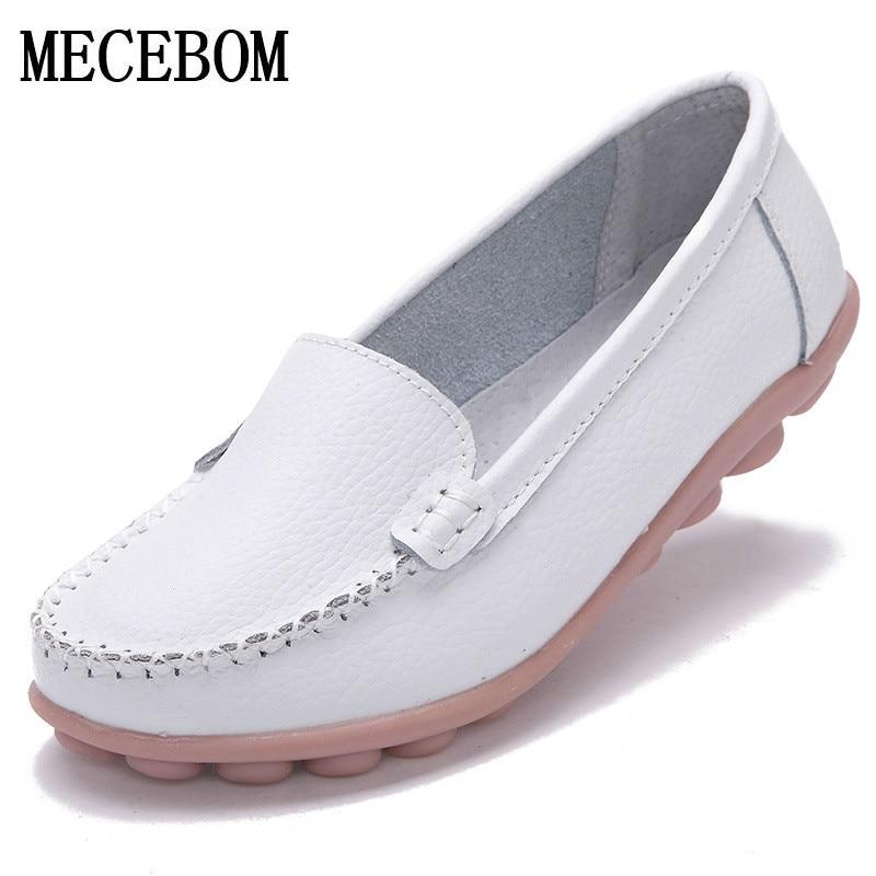 2018 Обувь женские женская обувь из кожи Туфли без каблуков Цвета обувь Женские Лоферы без застежек; туфли на плоской подошве Мокасины большого размера 1189 Вт