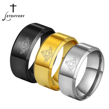 цена Letdiffery Cool Masonic Rings Stainless Steel Wedding Rings 8mm Men Women Carbon Fiber Rings DropShip Wholesale онлайн в 2017 году