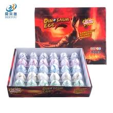BERYOU 30pcs/ set Water Hatching Inflation Dinosaur Egg Crack Grow Hatching Eggs Educational Toys Kids Novelty Gift -50