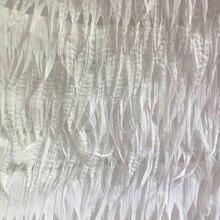 Laser chiffon georgette fransen weißen stickerei spitze abendkleid hochzeit kleid gewebe 1 Mt
