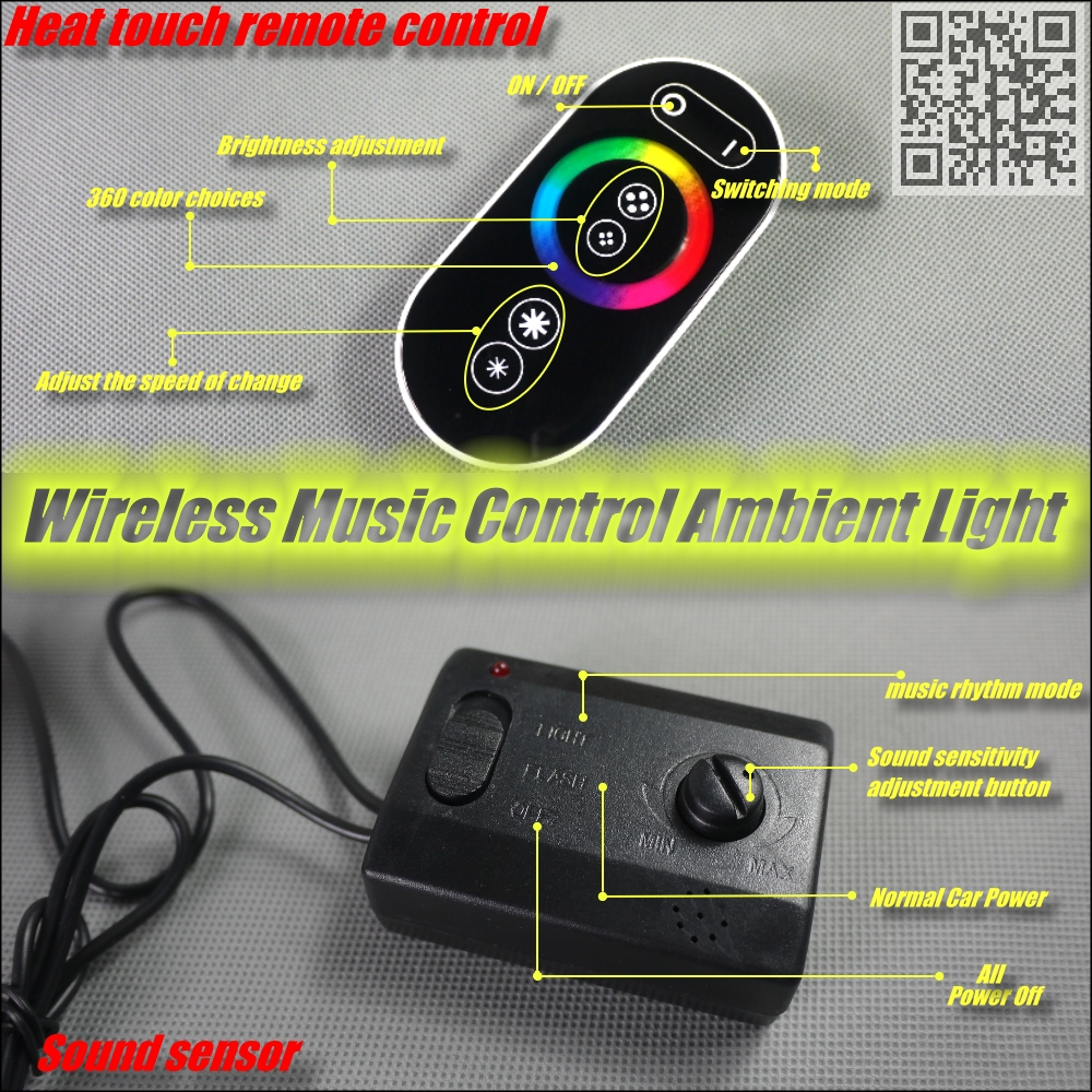 For Pontiac Fiero Wireless Control Color Neon Glow Interior Under Dashboard Dash Footwell Floor Decorative Atmosphere Seat Accent Light In Signal Lamp From