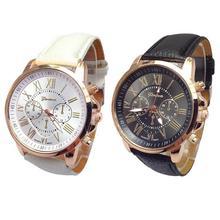 Часы XINIU 2 шт цифры Кожа Черный Белый повседневные Пары часы аналоговые кварцевые часы для женщин или мужчин