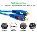 1.5/3/5M 3.5MM Male Jack To 2RCA Male Stereo Audio Cable One To Two AUX Audio Cable For Computer DVD Audio Devices
