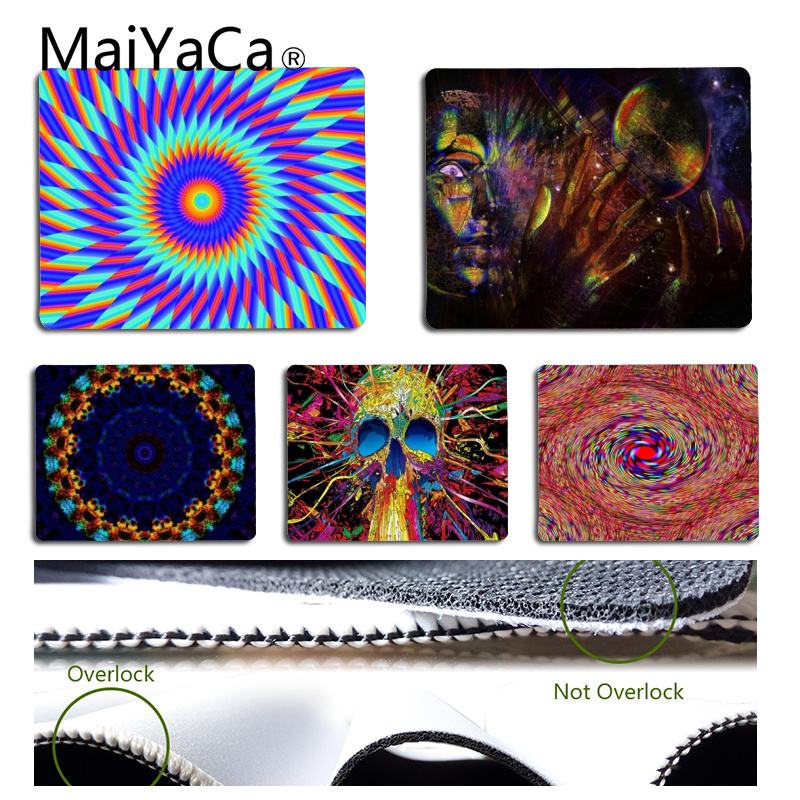 MaiYaCa Vintage Cool color background Mouse Pad for Laptop Size for 18x22cm 25x29cm Rubber Rectangle Mousemats
