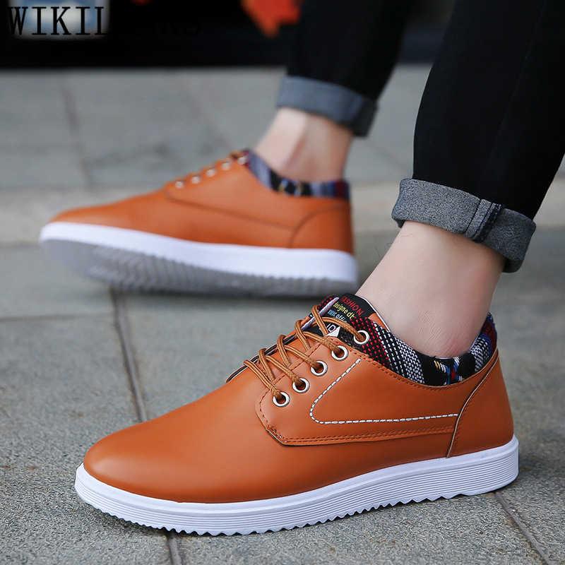 รองเท้าหนังผู้ชาย mens casual รองเท้าขายร้อนรองเท้าออกแบบรองเท้าผู้ชายคุณภาพสูงยี่ห้อ chaussure homme erkek deri ayakkabi