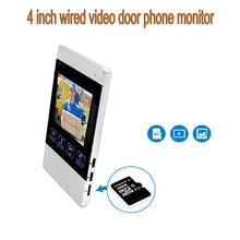 4 Inch HD Led Monitor for Video Door Intercom System Door Bell Metal Doorbell