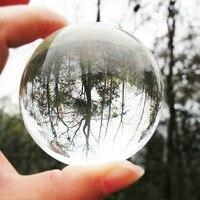 حار البحث 80 ملليمتر نادر السحر شفاف كريستال شفاء سفير الكرة مع إزالة قاعدة هدايا الرئيسية قطرة الشحن