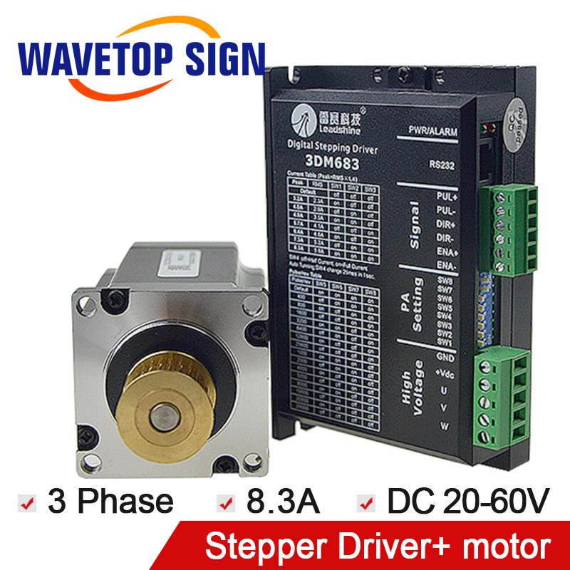 leadshine 3phase 3DM683+leadshine 3phase stepper drive motor 573S15-L leadshine 3phase 3dm683 leadshine 3phase stepper drive motor 573s09 l