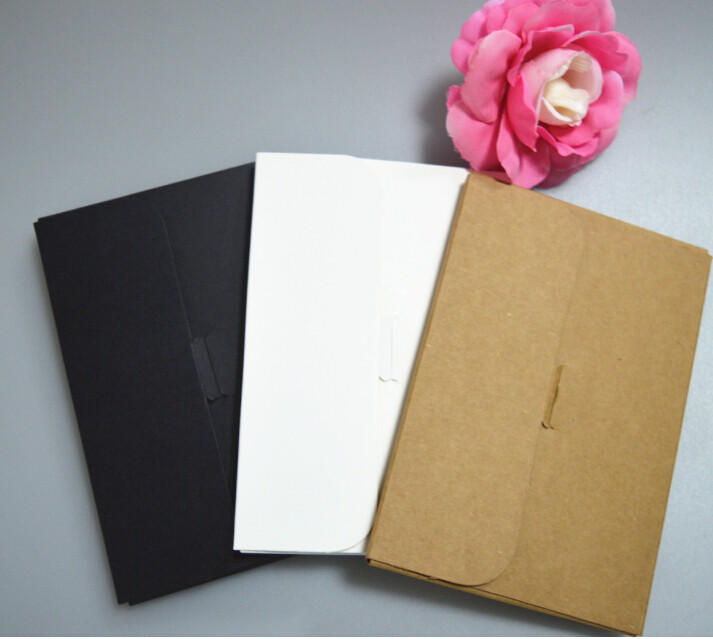 black envelopes for postcard 80pcs blank kraft envelope