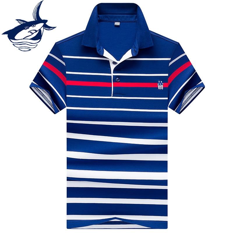 Brand Tace & Shark   Polo   Shirt Men vetement homme 2018 Men Clothing Summer Breathable Fashion Business   Polo   Men