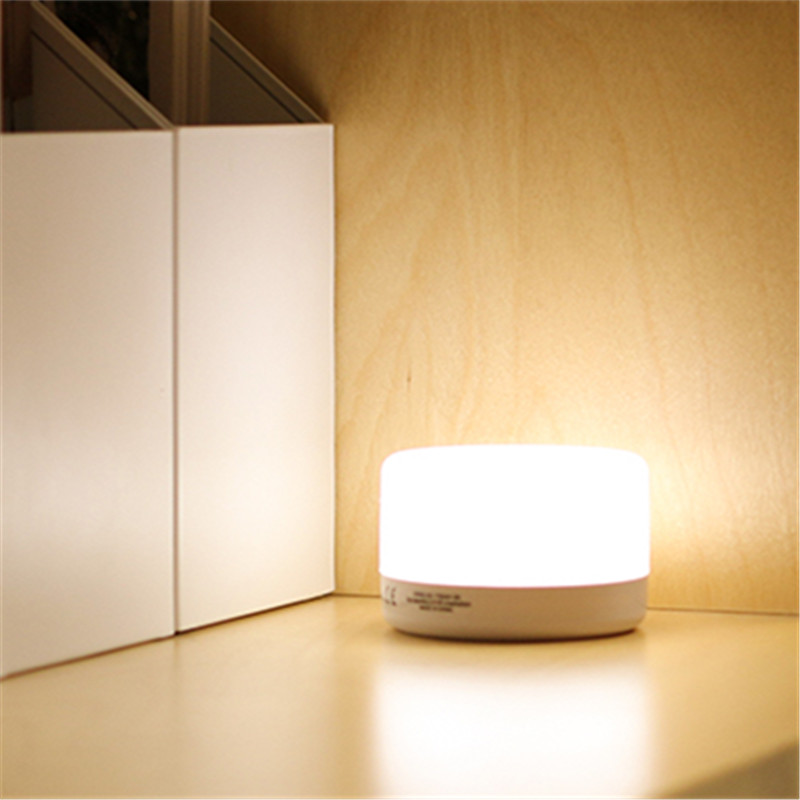 Creative LED Touch Sensor Night Light Chargeable Wall Lighting Dormitory Bedroom Study Feeding Lamp Wedding Holiday Decoration