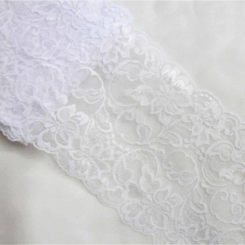 10 ярдов 15 см ширина розовый цвет слоновой кости черный эластичное тянущееся кружево отделка швейная повязка на голову аксессуары ткань