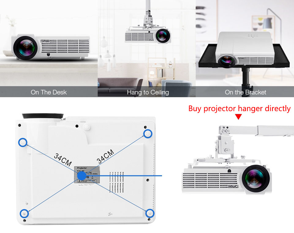 LED96W Projector