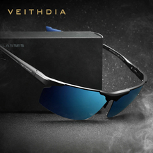 อลูมิเนียมแมกนีเซียม Rimless แว่นตากันแดดผู้ชาย Polarized UV400 ดวงอาทิตย์แว่นตาอุปกรณ์เสริมสำหรับแว่นตาชายสีฟ้าเคลือบกระจก 6587