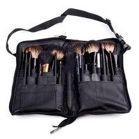New Black Two Arrays Makeup Brush Holder Professional Apron Bag Artist Belt Strap Portable Make Up