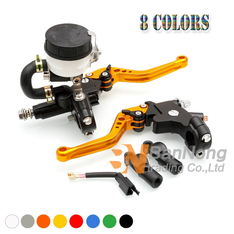 Motorcycle 7/8'' CNC Adjustable Clutch Lever Hydraulic Brake pump Master Cylinder For Ducati KTM Honda Yamaha Kawasaki Suzuki