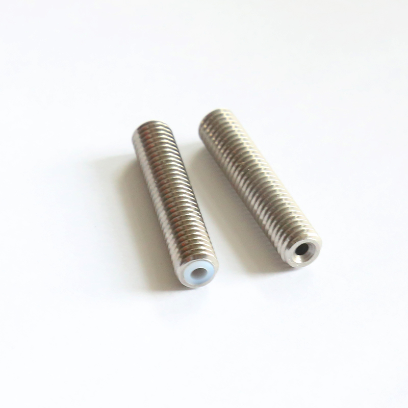 Stainless Steel Throat Long M6 30mm 40mm Threaded For MK8 MK9 1 75mm Filament 3D Printers Parts Teflon Tube Full Metal Part 4 1 in 3D Printer Parts Accessories from Computer Office