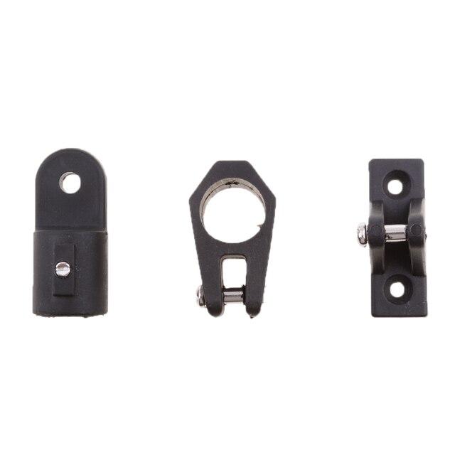 12 Stks/set Voor 3 Boog Bimini Top 7/8 Zwart Boot Onderdelen Nylon Fittingen Hardware Kit Trousse Daccessoires Materieel