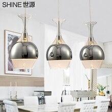 Fashion brief modern pendant light restaurant lamp dinning room glass pendant lamp three head pendant lights