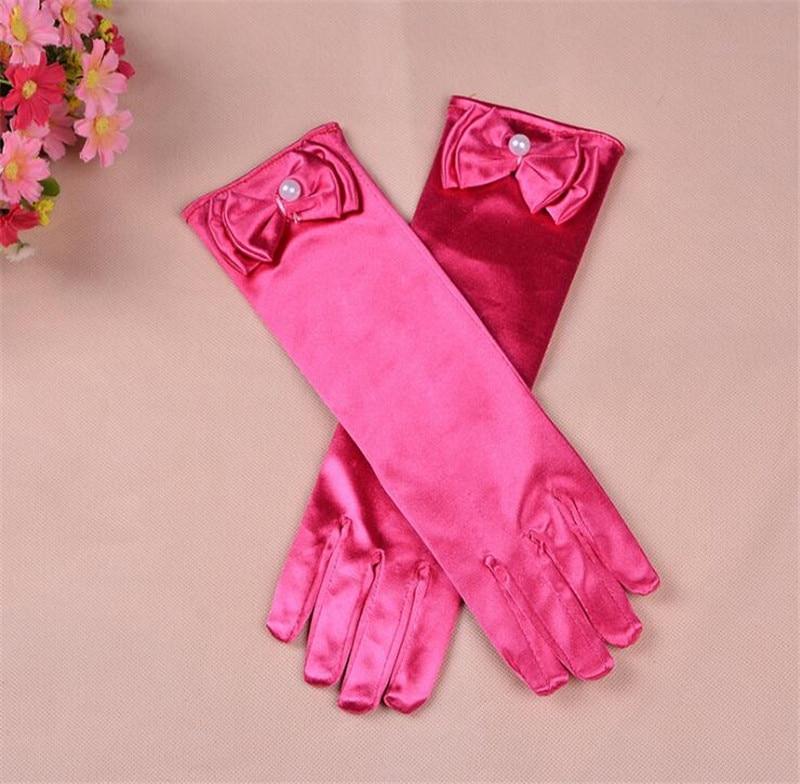 10 Paare/los Neue Mode Stretch Satin Lange Handschuhe Für Kinder Abendgesellschaft Opera Gloves Mode Bekleidung Zubehör Für Mädchen Eine GroßE Auswahl An Modellen