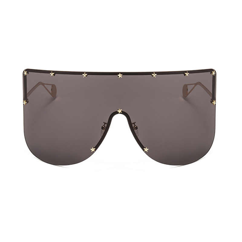 c2c64f74c896d ... ALOZ MICC Women New Oversized Sunglasses Men 2019 Brand Designer Half  Frame Sunglasses Women Windproof Visor ...
