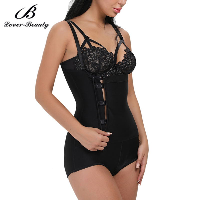915f778b7dc Lover Beauty Seamless Body Shaper Open Bust Shapewear Firm Control Bodysuit  Women Zipper and Clip Latex Waist Trainer Plus SizeC