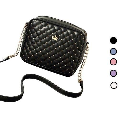 2015 moda mulheres mensageiro sacos rebite Mini cadeia de bolsa de ombro de alta qualidade Pu de couro Crossbody Bag mulheres frete grátis