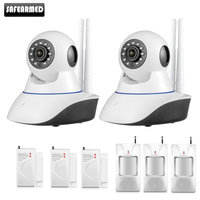 Safearmed Android IOS APP 720P IP Camera WiFi Home Burglar Camera Alarm System With PIR Motion