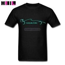 Lewis Hamilton W07 1A Tshirt Custom Cotton Short Sleeve Mens Tees Shirt Printing XXXL