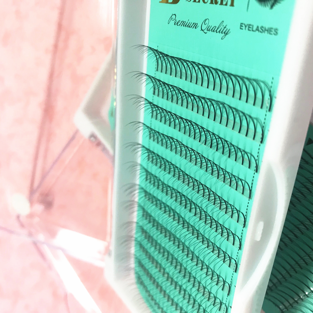 Professional 3D Individual Eyelashes Extension C/D Curl W 3D Volume Eyelashes Russian Premade Fans Volume Free Shipping