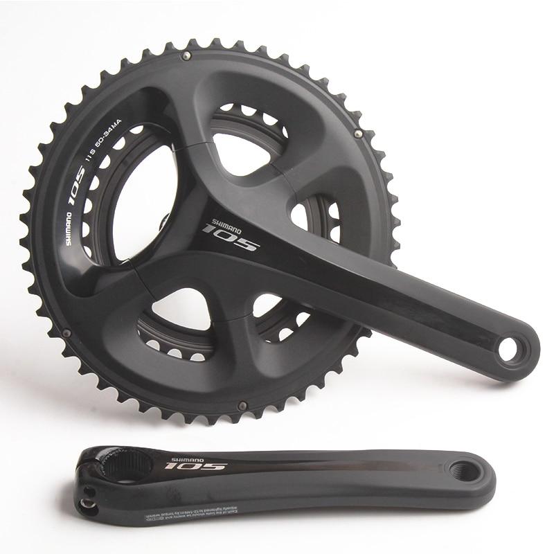 SHIMANO FC 5800 105 11S 22S 53-39T 50-34T 170mm 172.5mm Chain Wheel Crankset Bicycle Components Road Bike Chain Wheel Parts стоимость