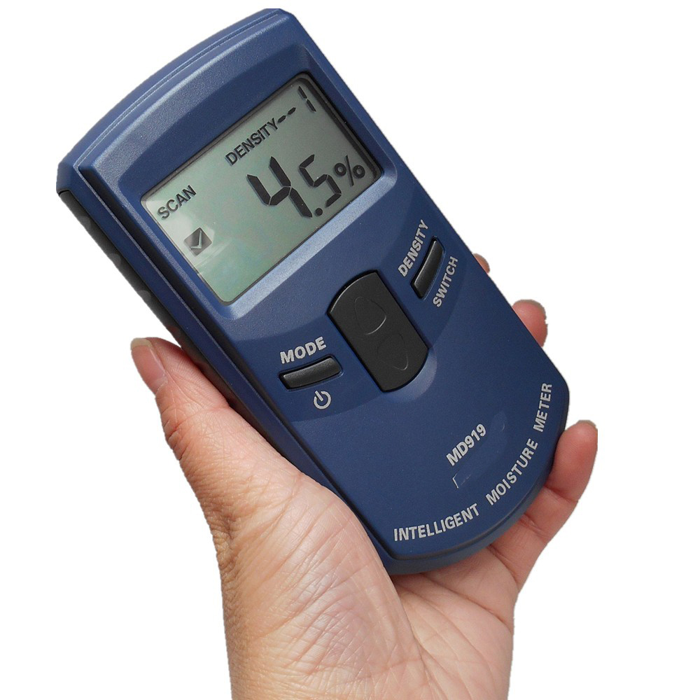 MD919 Portable Induction Paper moisture tester 4-speed density of the paper Optional ,Temperature and humidity compensation