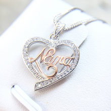 Sure 925 sterling silver Love Heart Pendant with box Charm AAA Zircon Genuine Necklace for Women mother's gift(China)