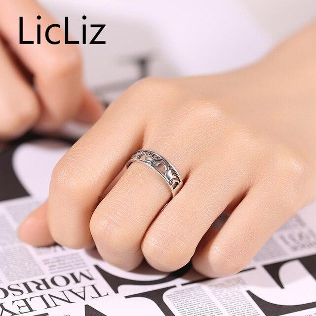 Licliz argento 925 anello animale per le donne e gli uomini antico elephant anelli band filigrana intagliato anello sterling silver vintage lr0301