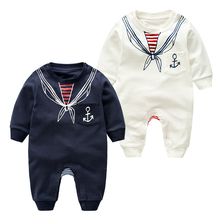 2016 Long Sleeve Baby Boys Clothing Jumpsuits Children Spring & Autumn Clothing Set Newborn Baby Clothes Cotton Baby Rompers