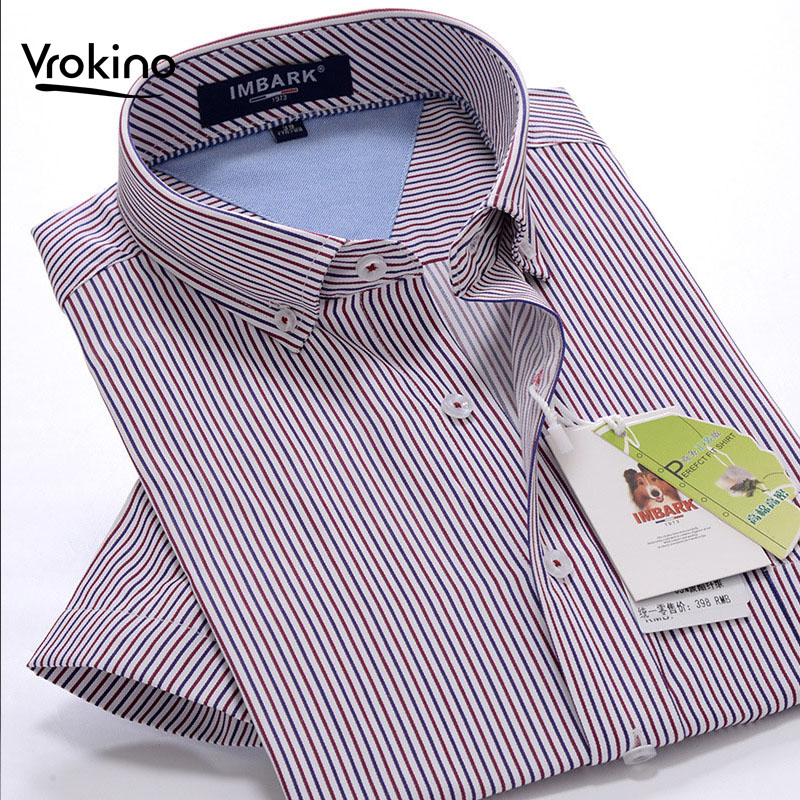 M-10XL 2019 New Men's Business Casual Striped Short Sleeve Shirt Men's Summer Plus Fertilizer To Increase Extra Large Shirts