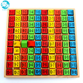 Bebé Juguetes de madera 99 Tabla de Multiplicación Matemáticas montessori Juguete 10*10 Bloques de la Figura Del Bebé aprender Educación regalos envío libre