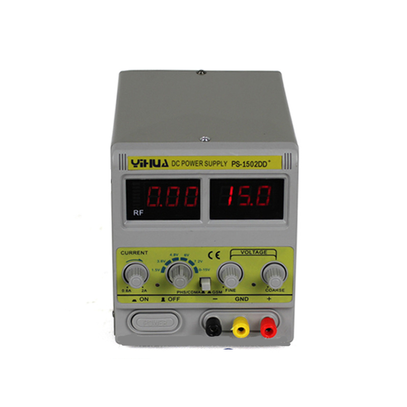 ФОТО YIHUA 1502DD+ for Mobile Phone15V 2A Adjustable Regulated DC Power Supply with LED Display
